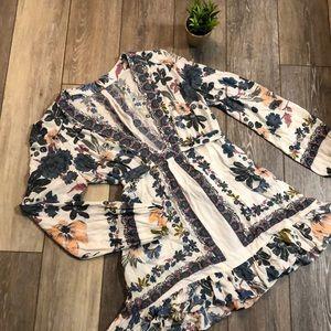 FREE PEOPLE Long Sleeve Blouse/Dress Size 4